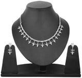 Touchstone Ad Pretty Stalks Necklace Set- FGNSA014-02A--W