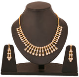 Touchstone Ad Golden Radiant Necklace Set- FGNSA019-01A--Y