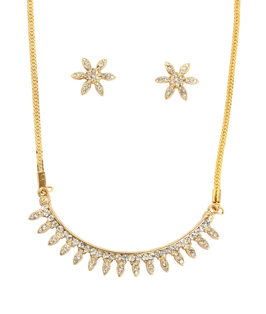 Gold Plated Necklace Set By Touchstone- FGNSA029-02A--Y