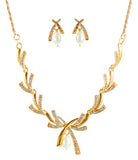 Touchstone Adorable Gold Plated Necklace Set- FGNSA275-01A--Y