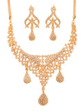 Touchstone Gold Plated Royal Necklace Set- FGNSA400-01A--Y