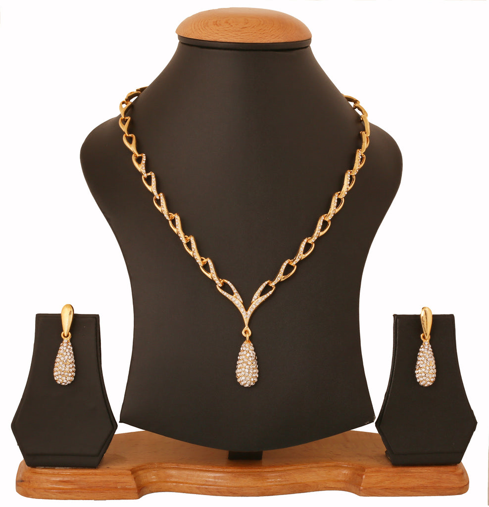 Touchstone Gold Plated Attractive Thin Necklace Set- FGNSL006-01A--Y  sc 1 st  Touchstone Jewellery & Touchstone Gold Plated Attractive Thin Necklace Set- FGNSL006-01A ...