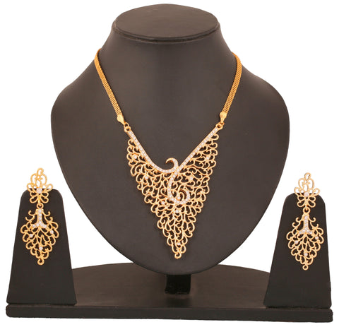 Touchstone Ad Golden Exquisite Necklace Set- FGNSL007-01A--Y