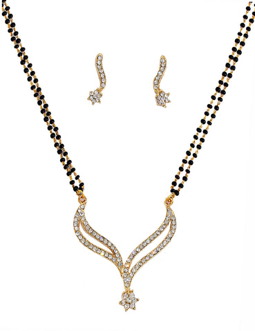 Touchstone Curvy Ad Studded Mangalsutra Set- FGNSL010-01A--Y