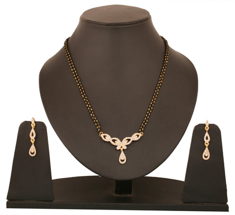 Touchstone Teardrop Ad Studded Mangalsutra Set- FGNSL015-01A--Y