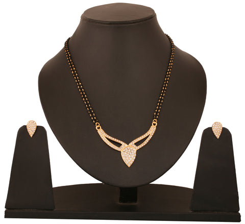 Touchstone Drop Shaped Ad Studded Mangalsutra Set- FGNSL045-01A--Y