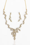 Touchstone Ad Leaf Spread Necklace Set- FGNST008-01A--Y