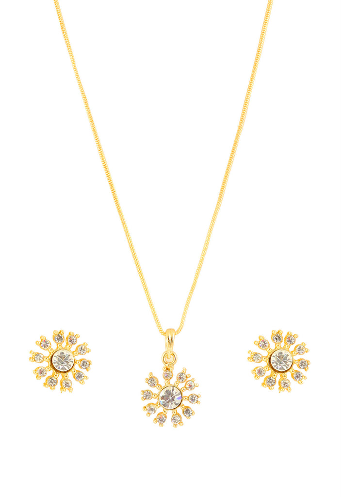 Austrian Diamond Pendant Set By Touchstone- FGPSL014-01A--Y