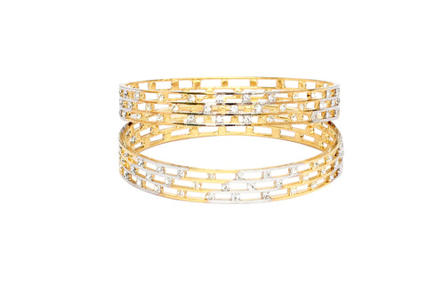 Touchstone Pair of Two Tone Fine AD Bangles- FPB--942C01A--M