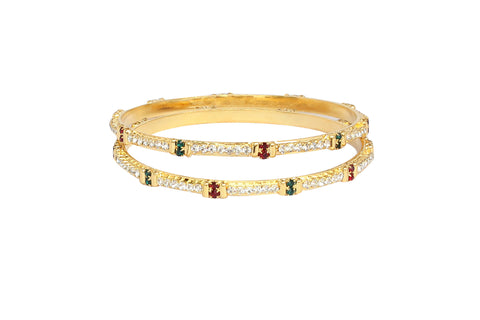 Touchstone Pair of Stylish AD Bangles- FPB--947C01AREY
