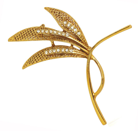 Touchstone Leaf Style Golden Brooch- FPBC-172-01A--Z
