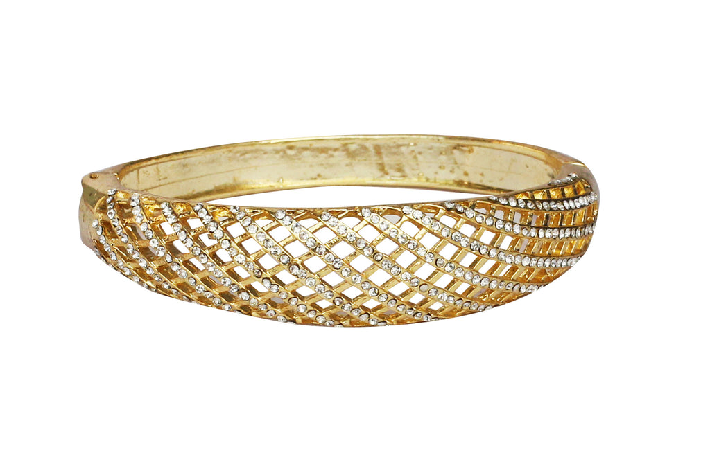 Touchstone Ad Golden Lattice Pattern Bracelet- FPBR-A33-03A--Y