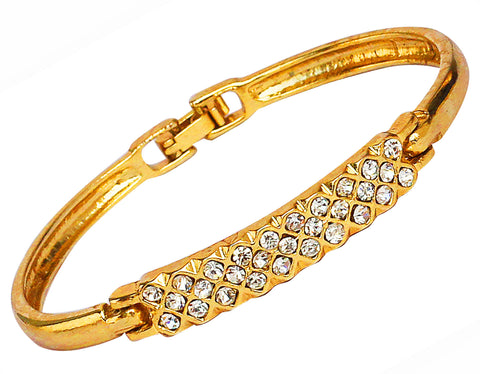 Touchstone Gold Polished Ad Bangle Style Bracelet- FPBR-A69-01A--Y