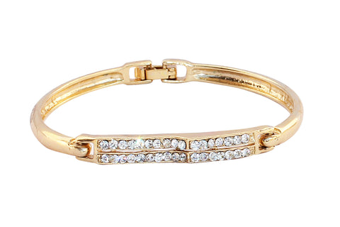 Touchstone Ad Shine Gold Polished Bangle Style Bracelet- FPBR-A73-01A--Y