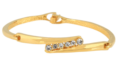 Touchstone Ad Elegance Gold Plated Bangle Style Bracelet- FPBR-B26-01A--Y