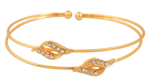 Touchstone Gold Plated Modern Bracelet- FPBR-B71-01A--Y