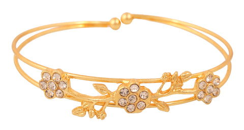 Touchstone Gold Plated Jazzy Bracelet- FPBR-B73-01A--Y
