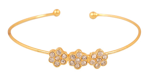 Touchstone Gold Plated Cute Bracelet- FPBR-B75-01A--Y