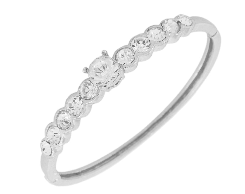 Touchstone Rhodium Plated Lovely & Attractive Bracelet- FPBR-B79-02A--W