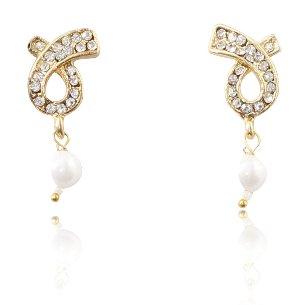 Gold-Plated Earrings By Touchstone- FPET-722-02A--Y