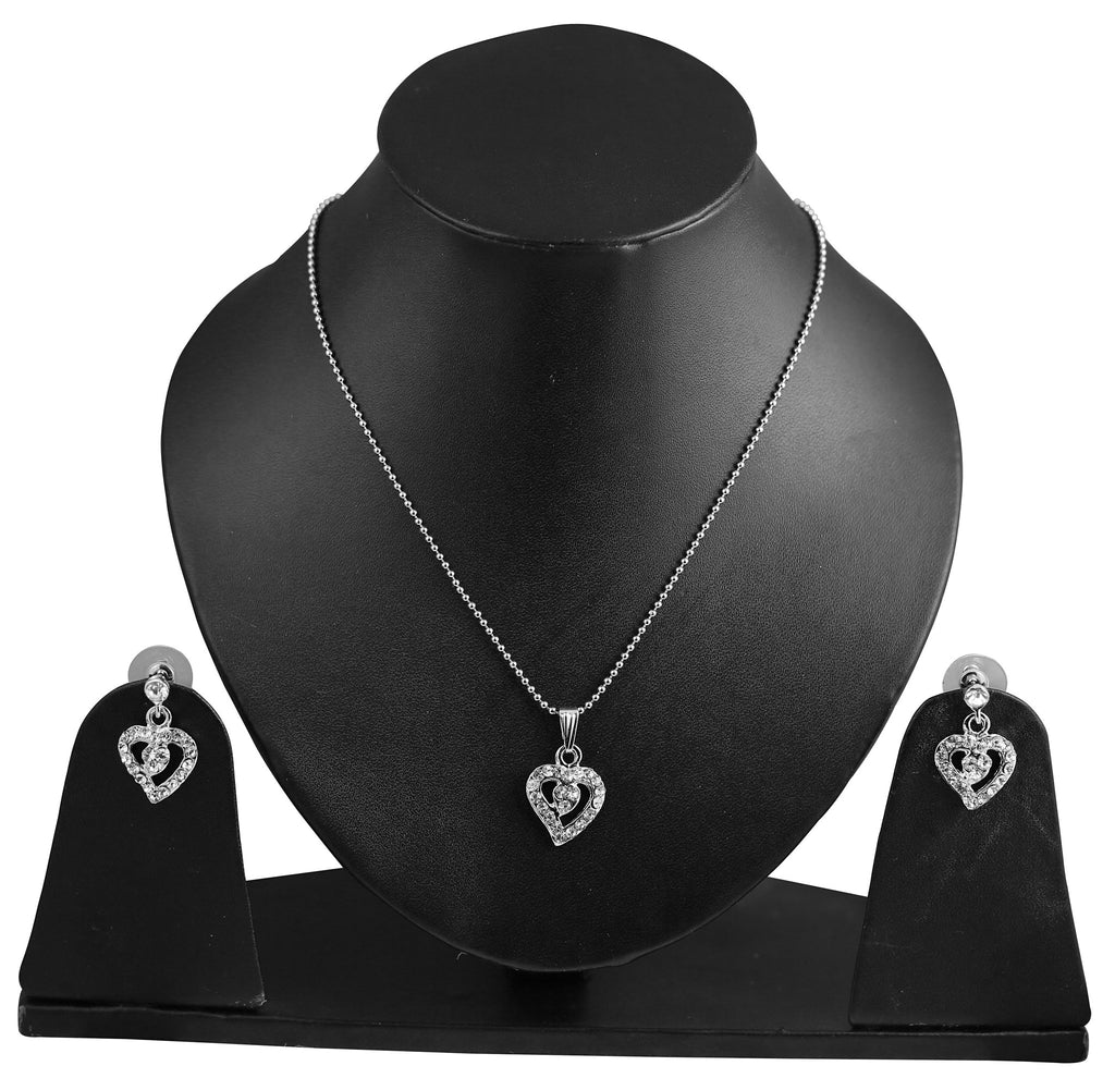 Touchstone Adorning Hearts Pendant Set- FPPS-499-01A--W