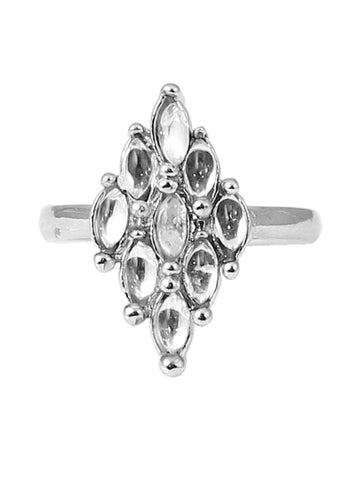 Touchstone Distinct Rhodium Plated Ring- FPR--642-01A--W