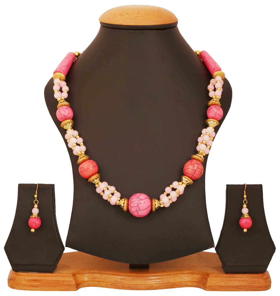 Artistically Designed, Rich & Colourful Bead Necklace Set by Touchstone- GMNS-110-02---Y