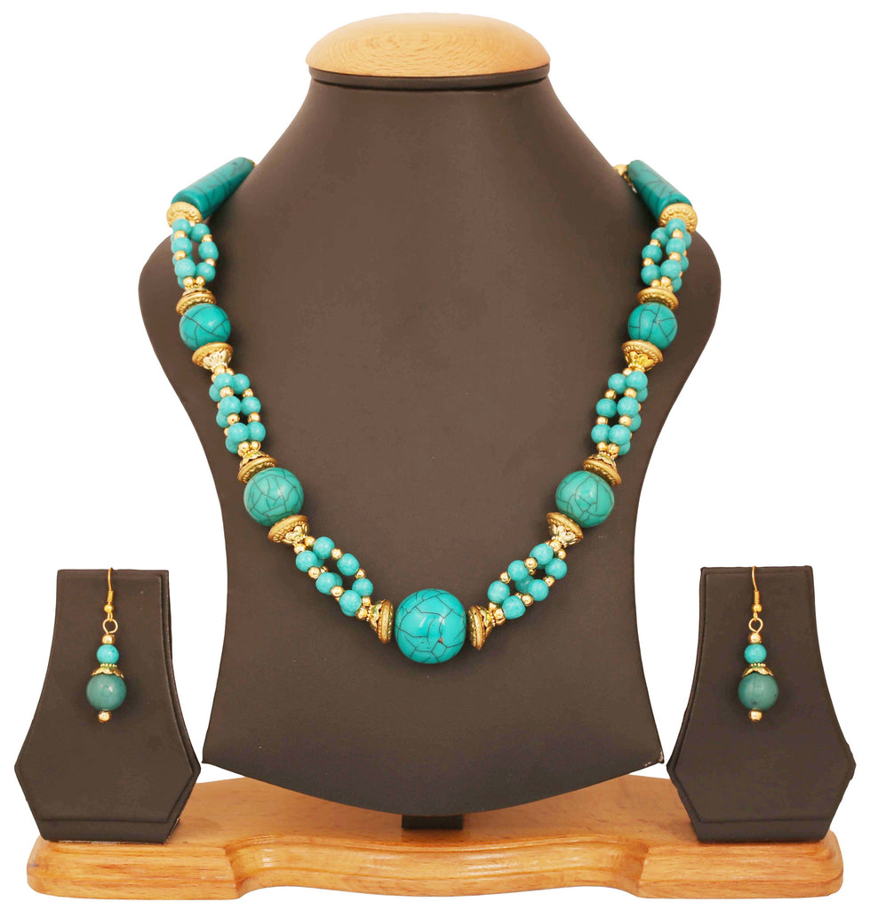 Artistically Designed, Rich & Colourful Bead Necklace Set by Touchstone- GMNS-110-03---Y