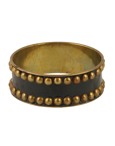 Touchstone Masterly handcrafted brass bangle with beautiful grain work- KRB--A26-01---Y