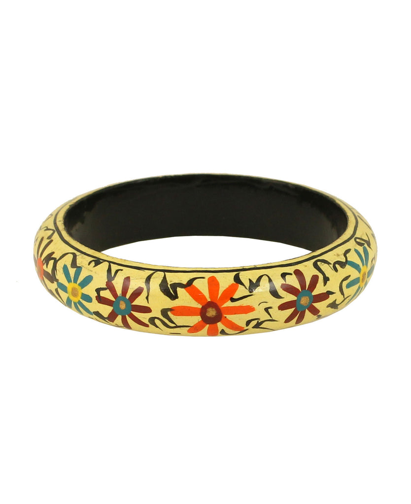 Touchstone Stunning and beautiful handcrafted wooden bangle- KRB--A57-01----