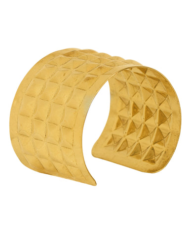 Gold Plated Bangle By Touchstone- KRBR-980-01----