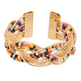 Touchstone handicrafted colour bead bracelet- KRBR-989-01---Y