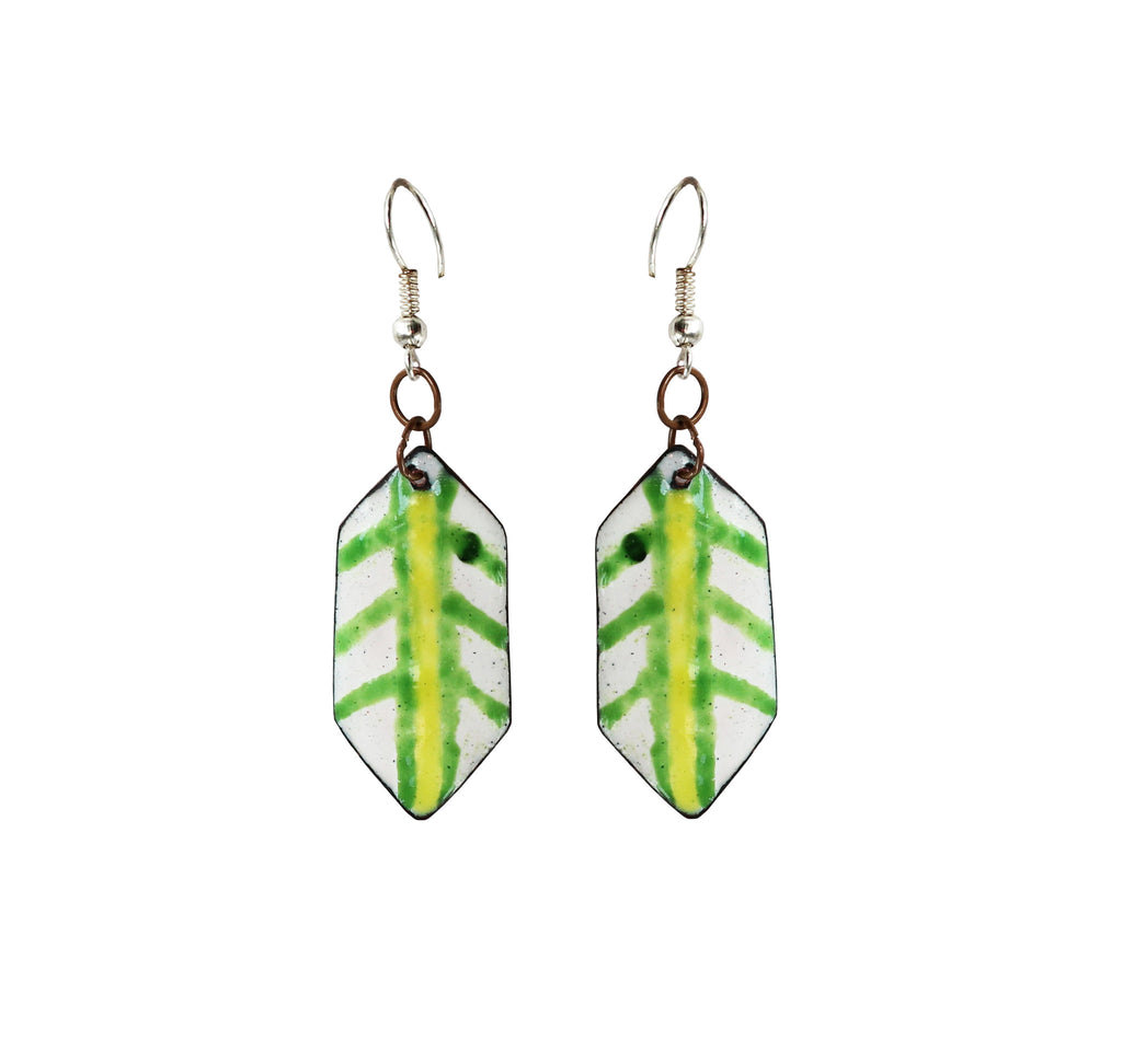 Touchstone Enamelled with multi-coloured earrings which is heaxgon shape design- KRET-F73-01----