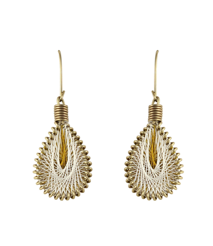 Touchstone Stylish and handcrafted, beautiully coupled with thread and wire work earrings- KRETGA50-01----