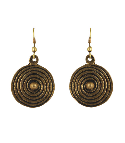 Touchstone Beautiful and ethnic brass base earrings- KRETGB22-01---Z