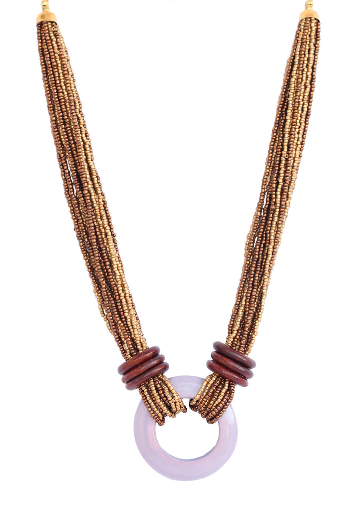 Touchstone Fashionable Wood Necklace- KRP--237-06----