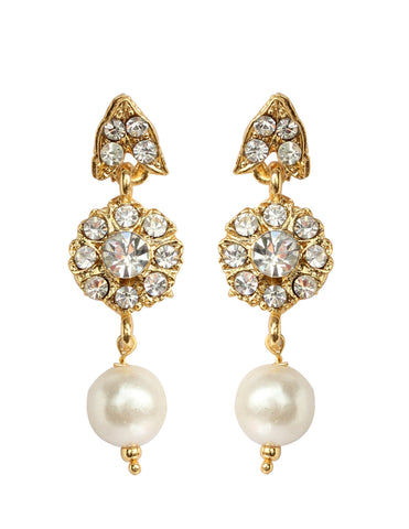 Austrian Diamond Earrings By Touchstone - MEET-627-01A--Y