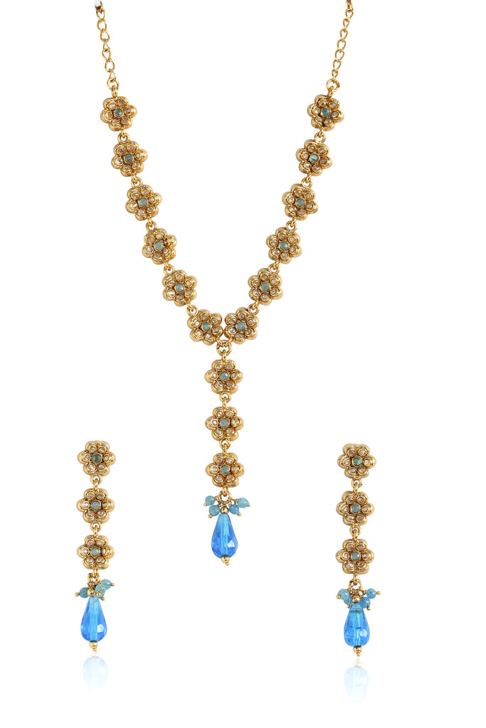 Floral Necklace Set By Touchstone- MENS-720-01KW-Y
