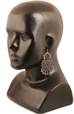 Pretty Jaipur Meena Enamel Tribal Bohemian Chic Earrings In Silver Tone-PWETE020-01---R