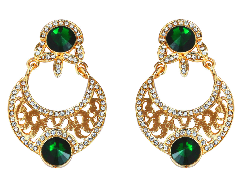 Touchstone Ad Trendy Green Shine Earrings- PWETL167-02AE-Y