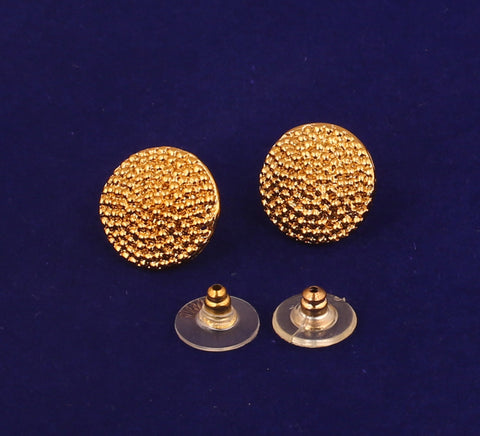 8aeca4399 ... Touchstone Indian Bollywood Majestic Shield Round Shape Bahubali  Inspired Designer Jewelry Earrings For Women In Gold