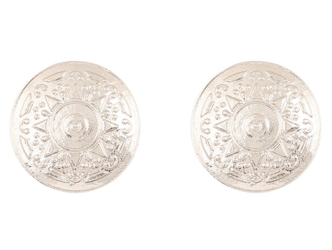 Touchstone Indian Bollywood ancient Indian jewelry inspired designer earrings for  women in silver tone
