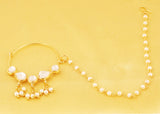 Bollywood Desire Kundan Polki Look Nath (Nose Accessory) In Gold Tone-PWNRL001-01---Y