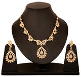 Austrian Diamond Necklace Set By Touchstone- PWNSL028-01A--Y