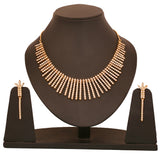 Touchstone Ad Strands Gold Plated Necklace Set- PWNSL053-01A--Y