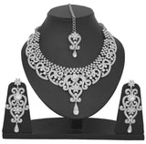 Rhodium Plated Necklace Set By Touchstone- PWNSL070-01A--W