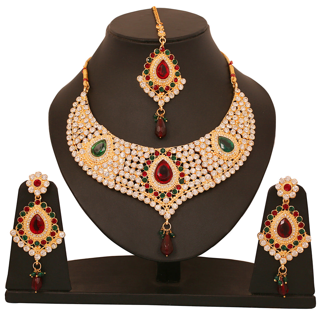 Gold Plated Necklace Set By Touchstone- PWNSL145-01AREG