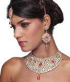 Touchstone Choker Style Royal Kundan Necklace Set- PWNSL146-01AKZY
