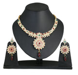 Touchstone Glittery Antique Necklace Set- PWNSL149-01AK-Y