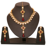 Kundan Necklace Set By Touchstone- PWNSL156-01KR-Y